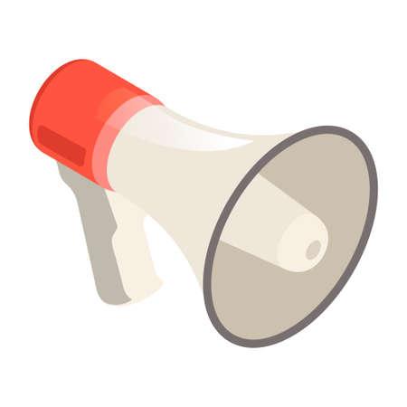 Loudspeaker icon, megaphone promotion public speaker bullhorn