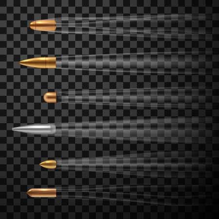 Flying fast bullets set, realistic metal firearm