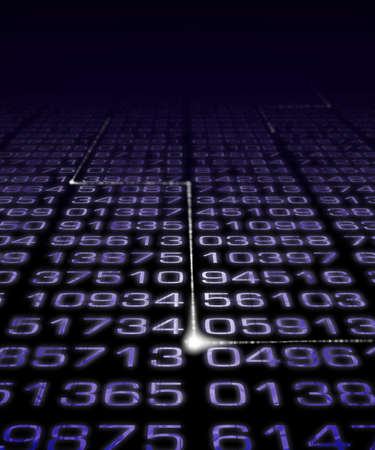 super highway: Digital Numbers with electronic pulse. Stock Photo