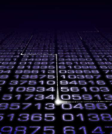 Digitale nummers met elektronische pulse. Stockfoto