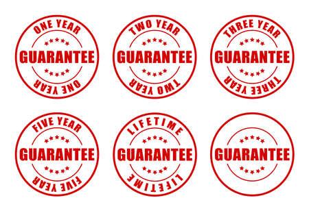 1,2,3,5 jaar en levenslange garantie stamps collectie