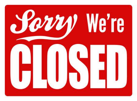 Typische gesloten teken voor een winkel, cafe of bedrijf om klanten te laten weten dat ze open zijn Perfect als onderdeel van een ontwerp of winkel