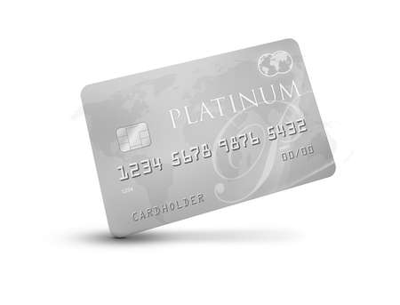 Platinum CreditDebit Card with world map on the background