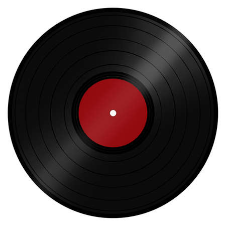 lp: Classic retro vintage music LP record disc popular with DJs and the disco scene  Isolated on a white