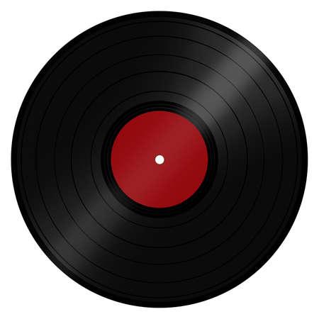 Klassieke retro vintage muziek LP schijf populair bij DJ's en de disco scene Geïsoleerd op een witte