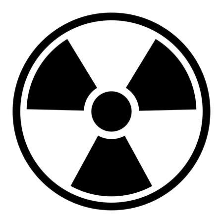 power concept: Basic Radiation Symbol   Sign isolated on a white  Stock Photo