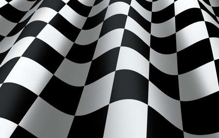 sidecar motocross racing: Checkered flag close up - representing finishing or completing a race, competition     Stock Photo