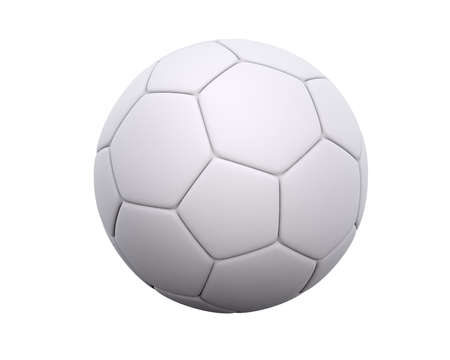 Blank soccer ball  football with leather hexagon and pentagon pattern isolated on a white background. With space to put your own design.