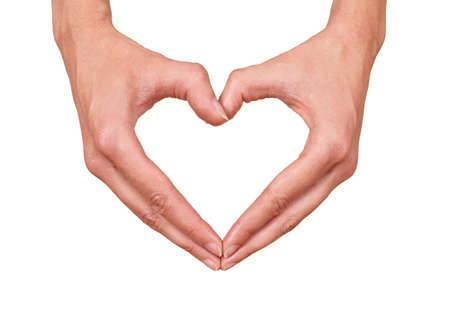 Vrouwelijke handen maken van een hart, kan vertegenwoordigen: gezondheid, liefde, zorg of beauty
