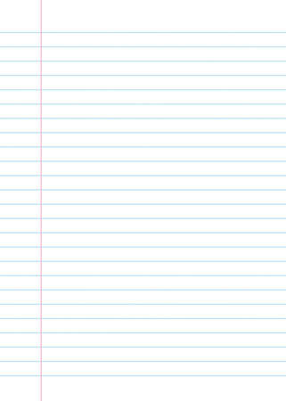 Blank lined paper texture from a notebook or notepad. Great for a writing background or design Archivio Fotografico