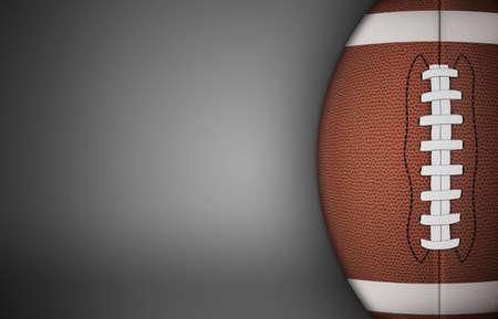 American football bal op een grijze achtergrond. met veel kopie ruimte.