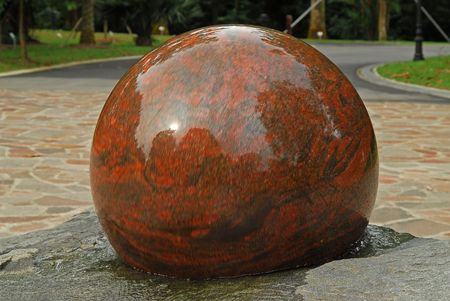 water feature: Round Stone Water feature