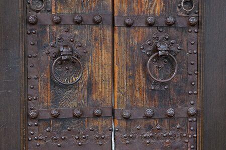 door way: Old Door Way And knobs Stock Photo