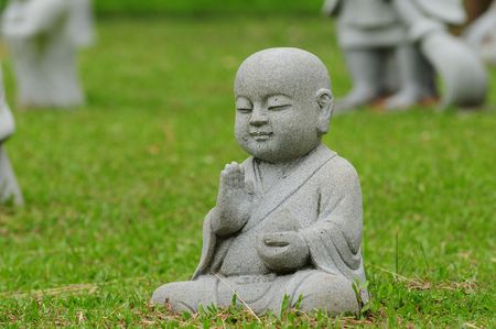 mnich: Young Buddha In Meditation Pose