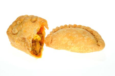 Curry Puff And A Section Showing  The Ingredients Stock Photo - 7123194