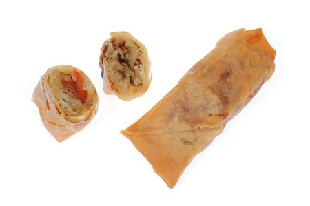 Chinese  Deep Fried Spring Rolls photo
