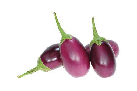arrangment: Arrangment Of Eggplants On White background