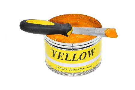A Can Of Yellolw Offset Printing Ink photo