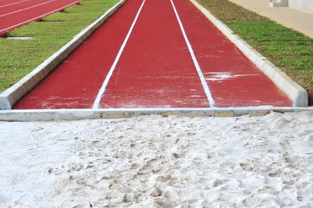 sand pit:  Long Jump Pit  In A Stadium