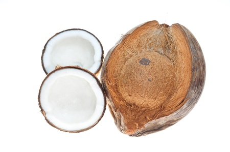 Ripe Coconut With Sectional View Stock Photo - 8525776