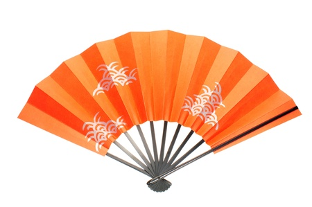 Oriental Paper Folding Fan Stock Photo