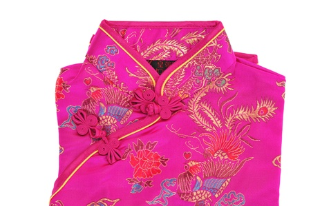 Traditional Chinese Dress With Silk Fabric And Buttons