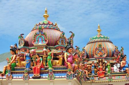 Hindu Temple With Deities Statues Archivio Fotografico