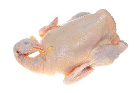 Whole Raw Chicken Ready For Cooking Stock Photo