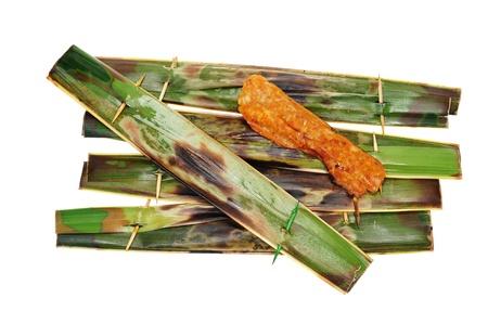 Otak-Otak - Fish Meat Wrapped In Coconut Leaf