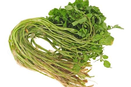 Vegetable, Watercress Isolated On White Background photo