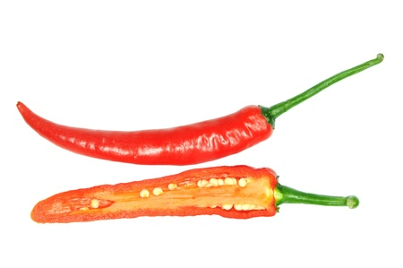 Red Chili Pepper Sectional View