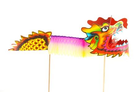 acomodador: Drag�n de colores de papel de marionetas Figurine