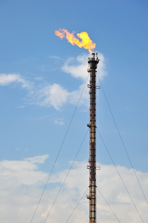 Oil Refinery Gas Flare Stock Photo - 11211504