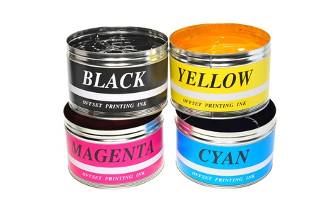 lithograph: Four Color  Printing Inks  Used For Offset Printing