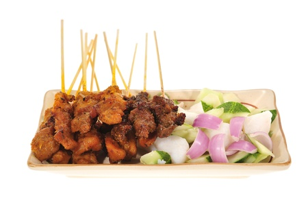 Serving Of Barbecued Meat, Satay photo