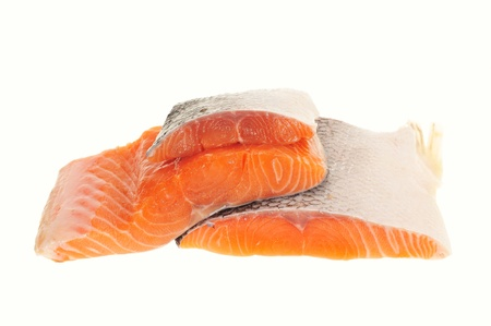 Two Fillets Of Raw Salmon Fish