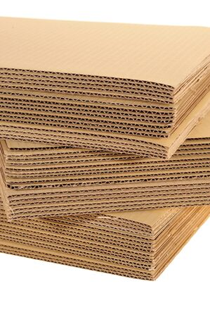 Side View Of A Stack Of Corrugated Board photo