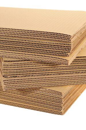 Side View Of A Stack Of Corrugated Board Archivio Fotografico