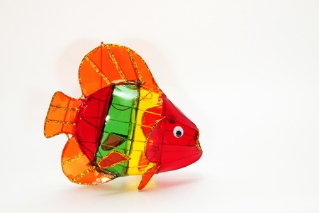 colorful lantern: Colorful Fish Chinese Lantern Stock Photo