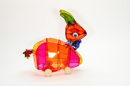 Colorful Rabbit Handmade Lantern Stock Photo