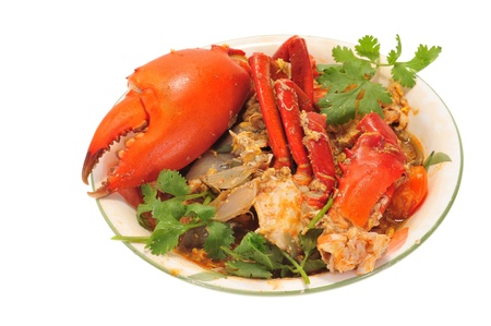 Serving Of Chili Crab Stock Photo