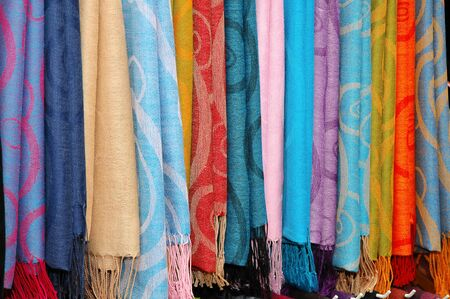 Colorful Cloth, Shawl On Display photo