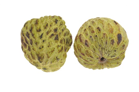 custard apples: Custard Apples Isolated On White Background Stock Photo