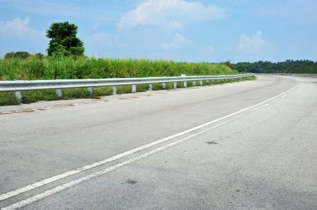 Empty Expressway With Traffic Barrier photo
