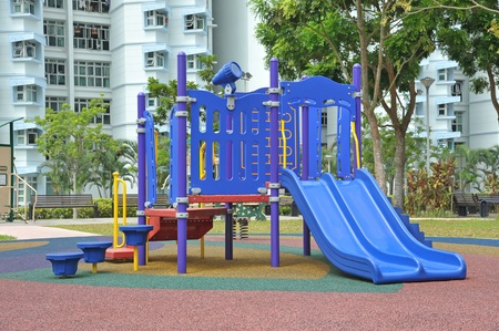 Children Playground With Slide Outdoor photo