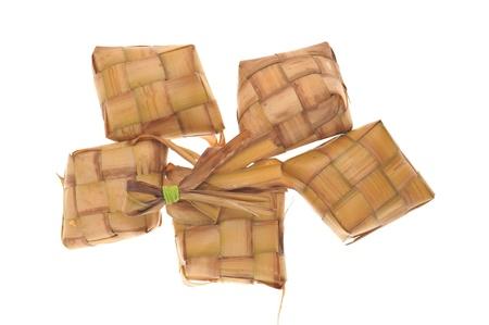 Ketupat, A Malay Rice Dumpling Wrapped With Coconut Leaf  Stock Photo