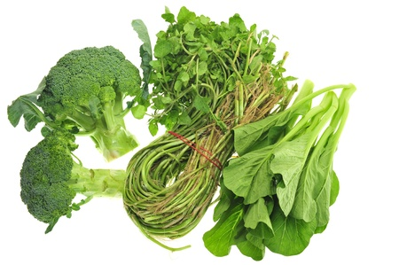 water cress: Broccoli,Water cress And Chinese Cabbage Stock Photo