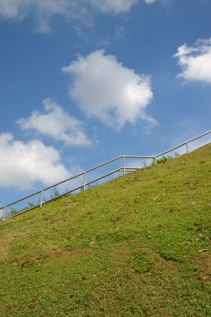 ascend: Stair Steps In The Park Leading Uphill