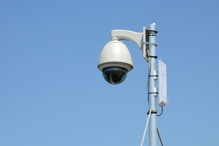 Dome Shape Outdoor CCTV Camera photo