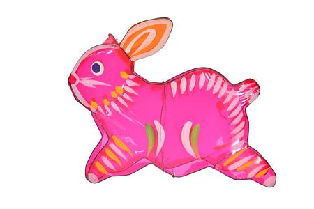 Rabbit Design Chinese Lantern Archivio Fotografico